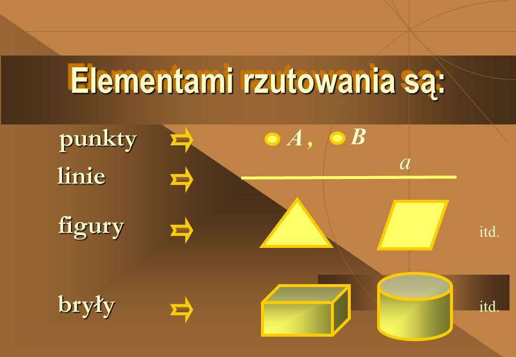 Elementami rzutowania są: