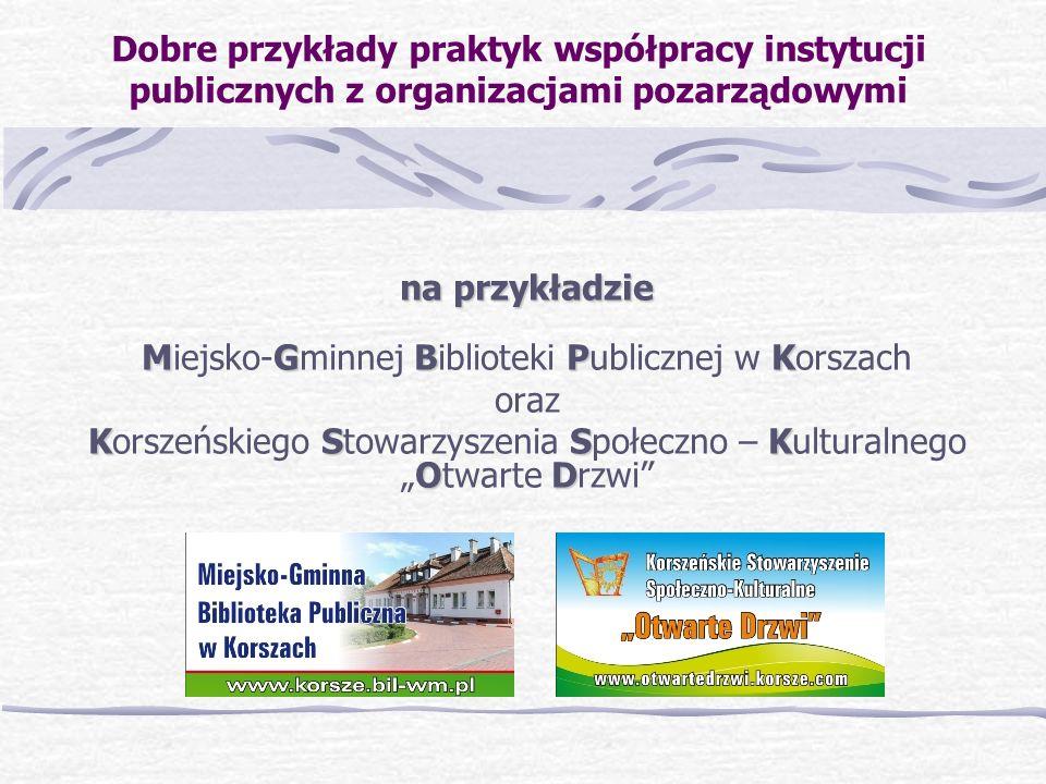 Miejsko-Gminnej Biblioteki Publicznej w Korszach oraz