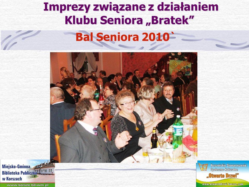"""Imprezy związane z działaniem Klubu Seniora """"Bratek"""