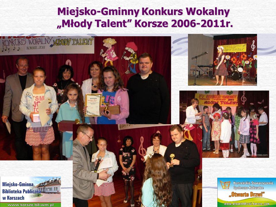 """Miejsko-Gminny Konkurs Wokalny """"Młody Talent Korsze 2006-2011r."""