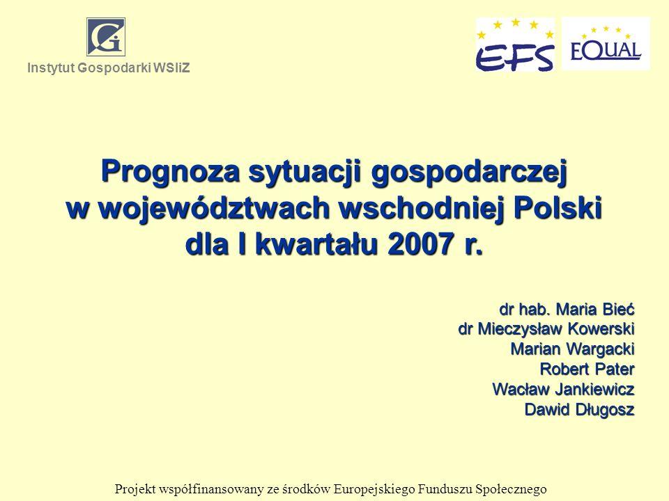 Prognoza sytuacji gospodarczej w województwach wschodniej Polski