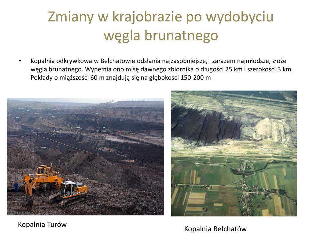 Zmiany w krajobrazie po wydobyciu węgla brunatnego