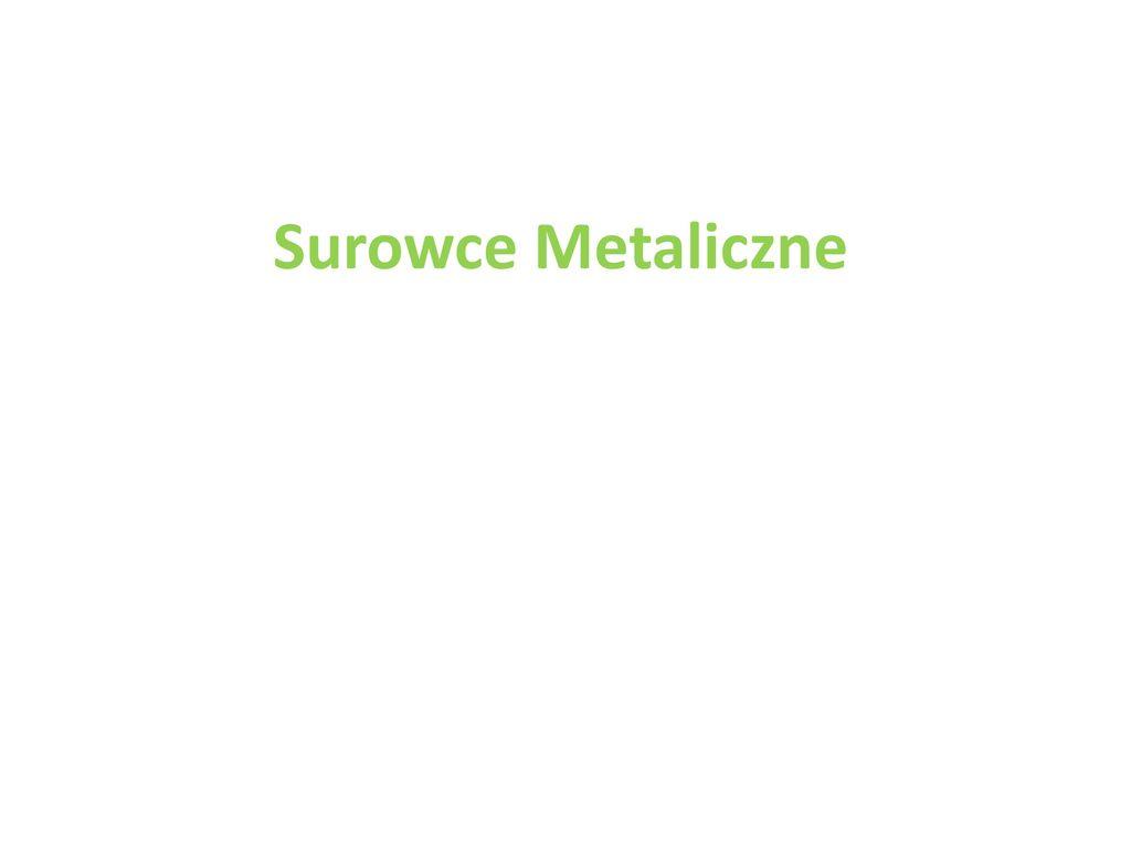Surowce Metaliczne