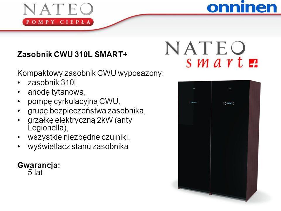 Zasobnik CWU 310L SMART+ Kompaktowy zasobnik CWU wyposażony: zasobnik 310l, anodę tytanową, pompę cyrkulacyjną CWU,