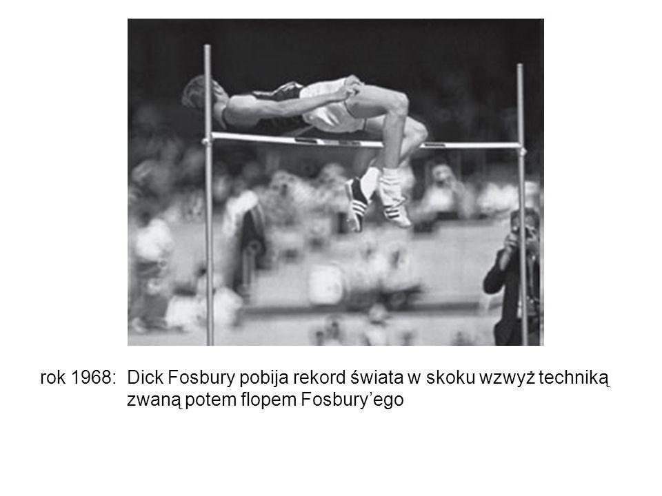 rok 1968: Dick Fosbury pobija rekord świata w skoku wzwyż techniką