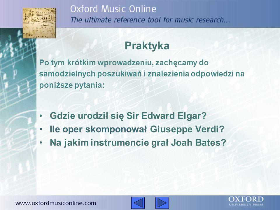 Praktyka Gdzie urodził się Sir Edward Elgar