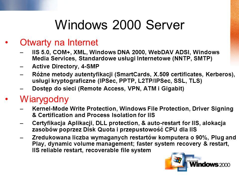 Windows 2000 Server Otwarty na Internet Wiarygodny