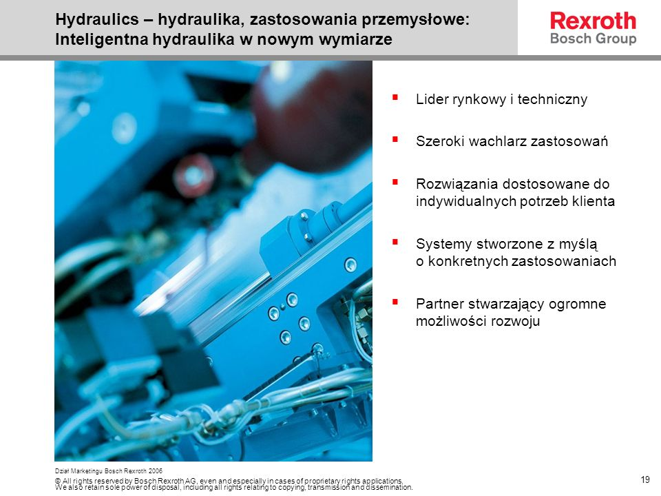 Hydraulics – hydraulika, zastosowania przemysłowe: Inteligentna hydraulika w nowym wymiarze