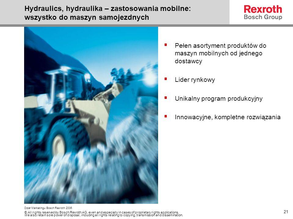 Hydraulics, hydraulika – zastosowania mobilne: wszystko do maszyn samojezdnych