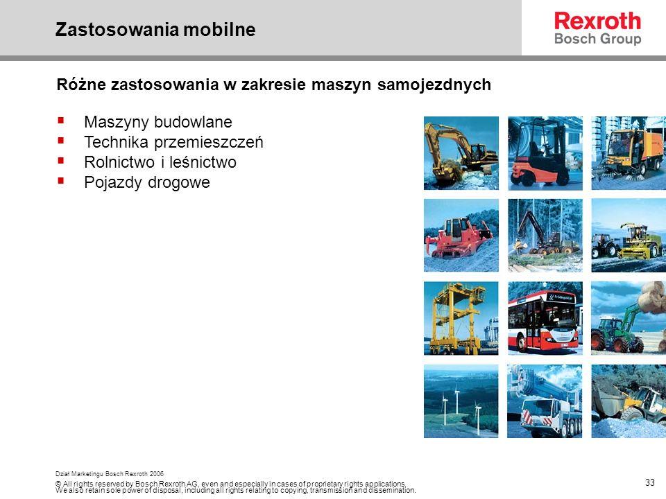 Zastosowania mobilne Różne zastosowania w zakresie maszyn samojezdnych