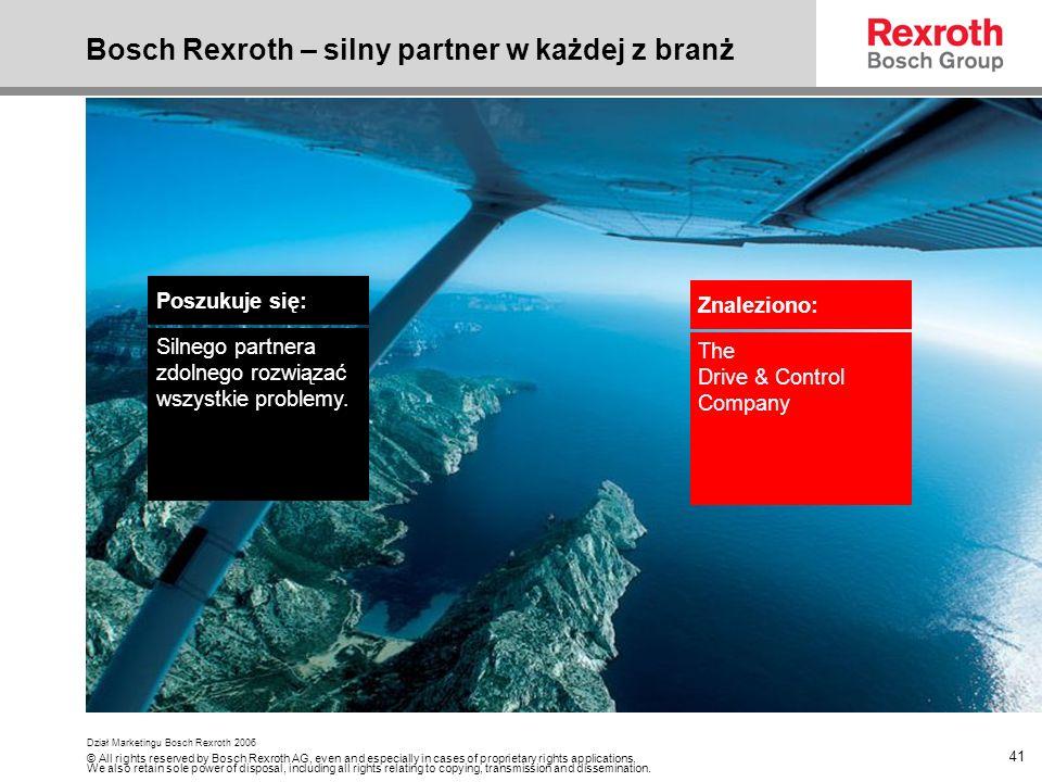 Bosch Rexroth – silny partner w każdej z branż