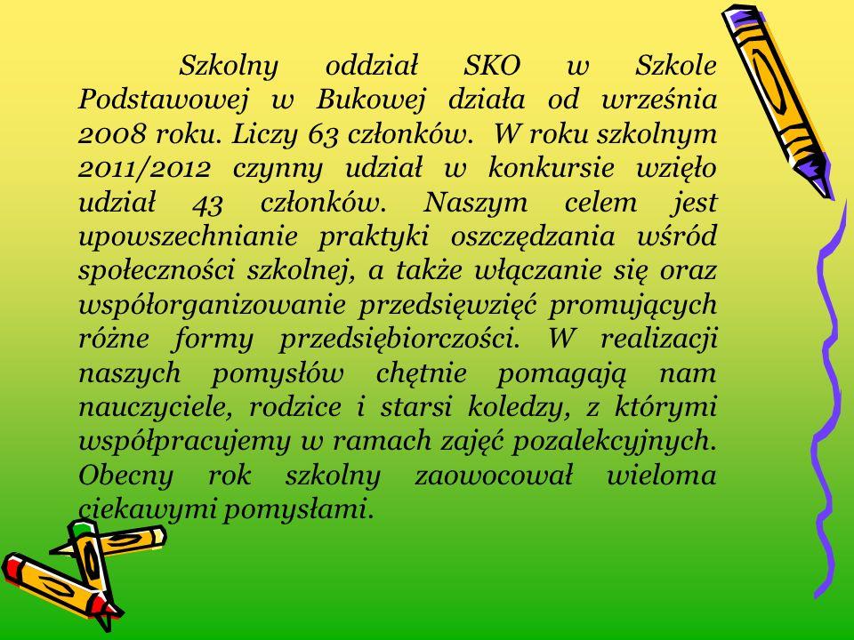 Szkolny oddział SKO w Szkole Podstawowej w Bukowej działa od września 2008 roku.