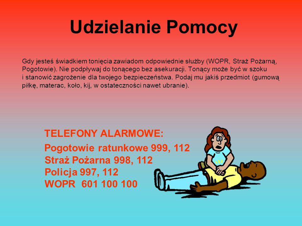 Udzielanie Pomocy TELEFONY ALARMOWE: