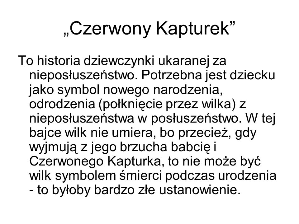 """""""Czerwony Kapturek"""