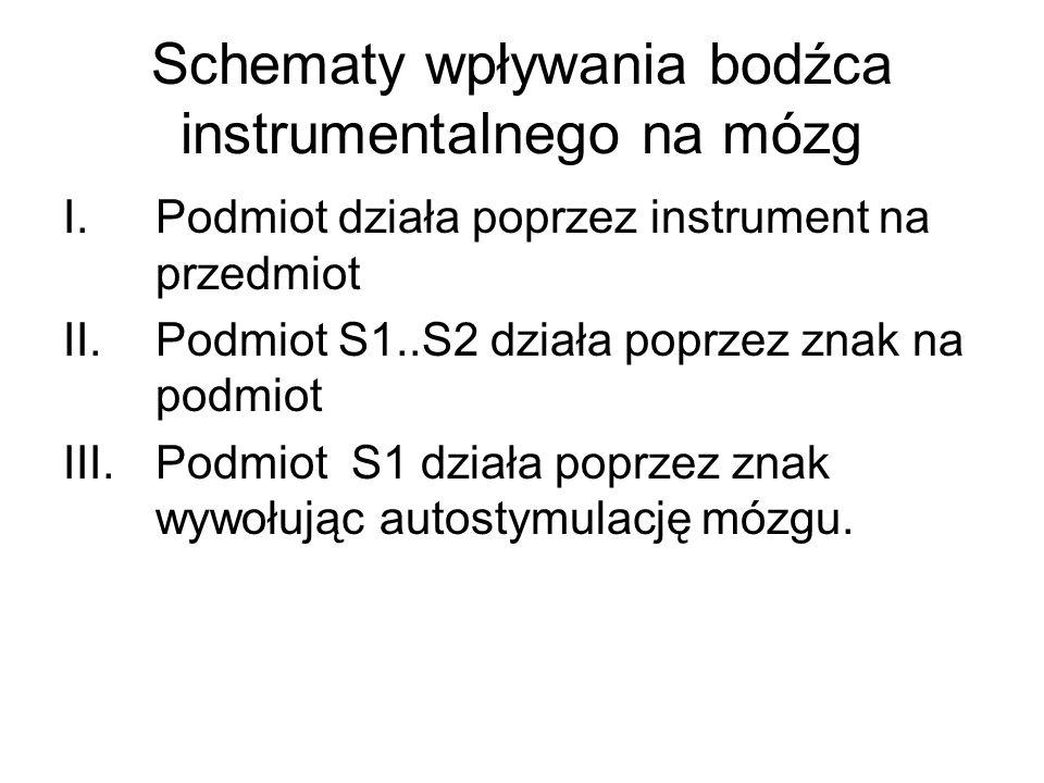 Schematy wpływania bodźca instrumentalnego na mózg