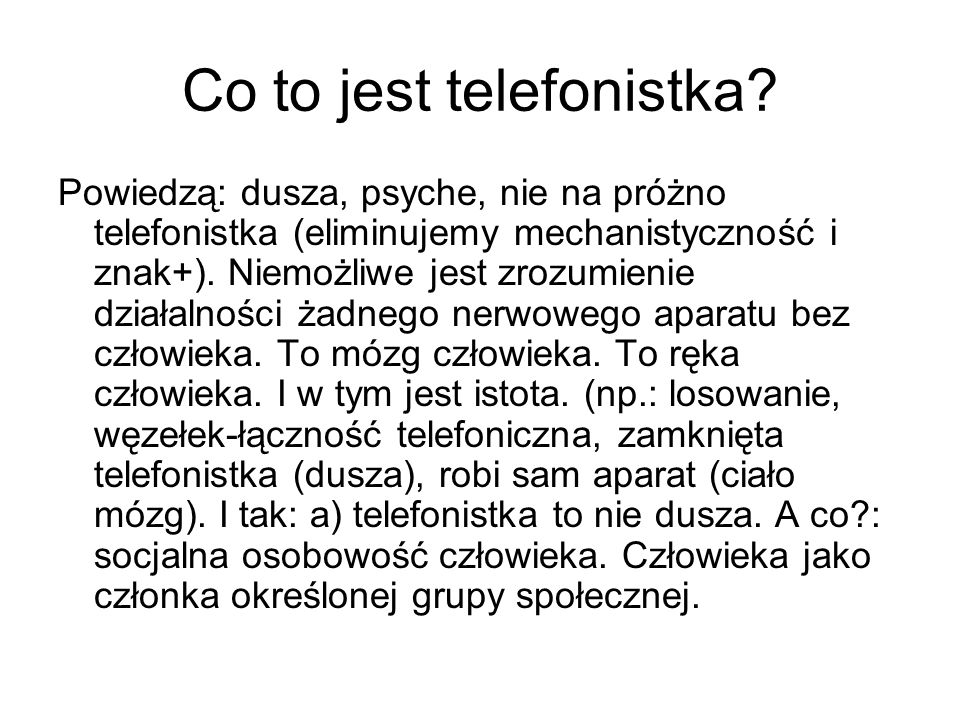 Co to jest telefonistka