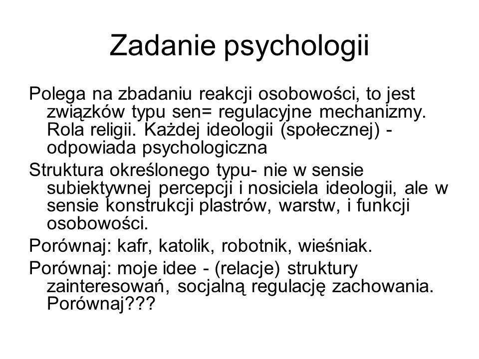 Zadanie psychologii