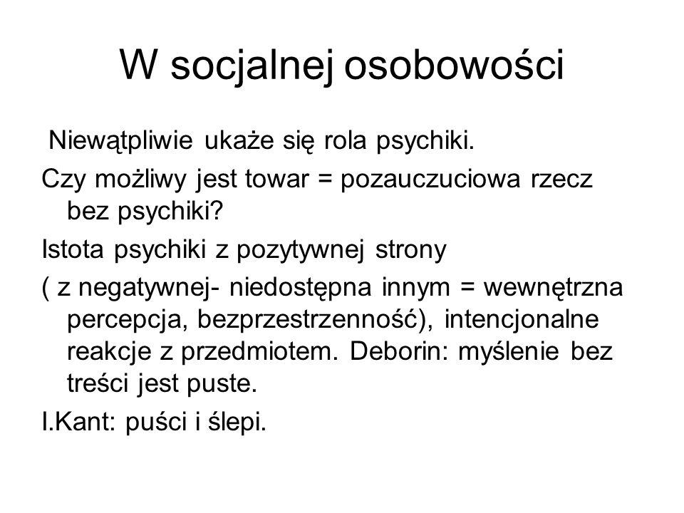 W socjalnej osobowości