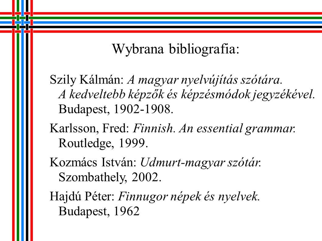 Wybrana bibliografia: