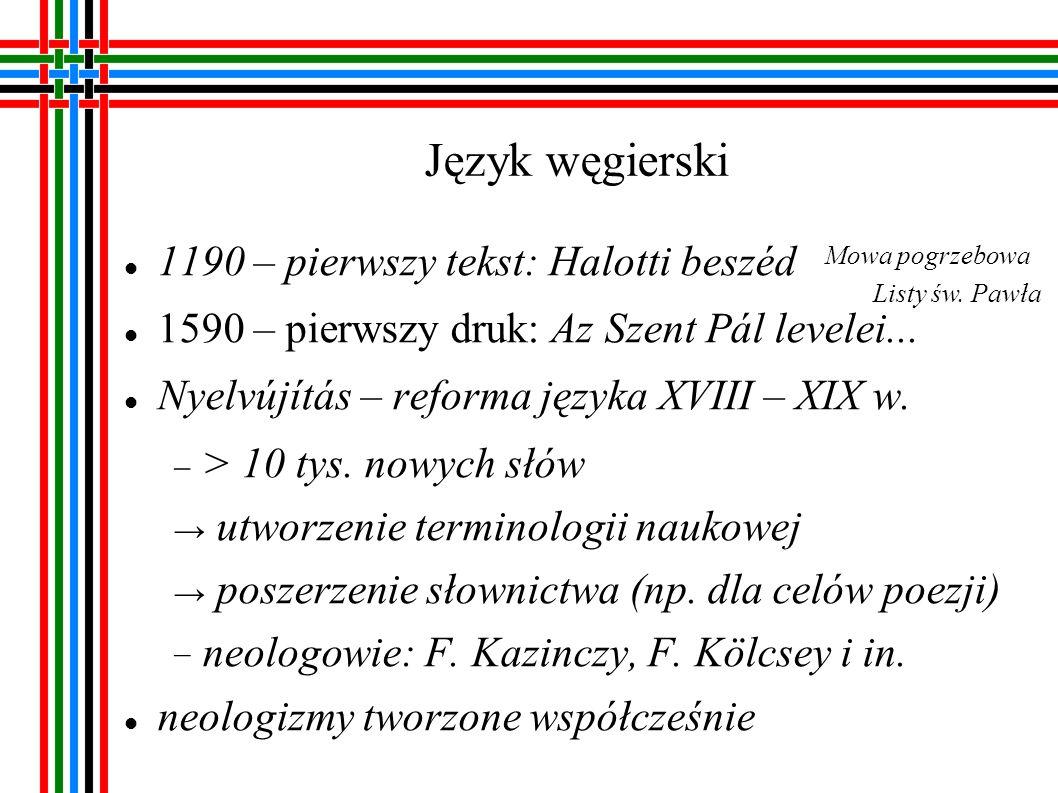 Język węgierski 1190 – pierwszy tekst: Halotti beszéd