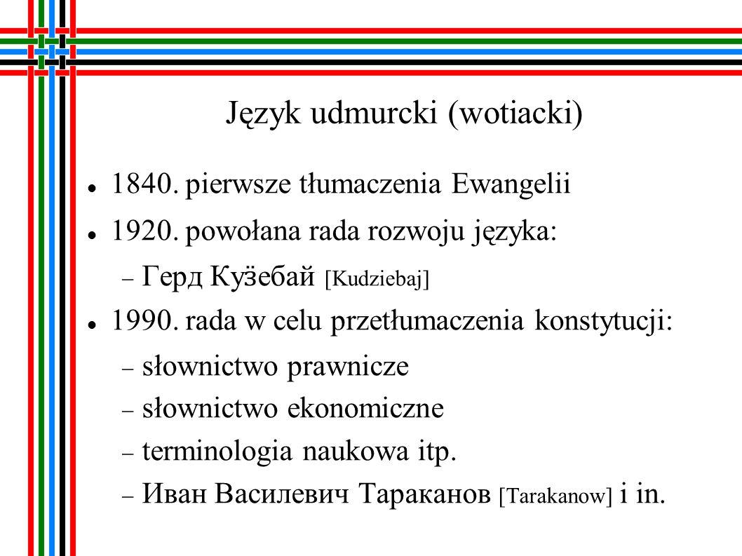 Język udmurcki (wotiacki)