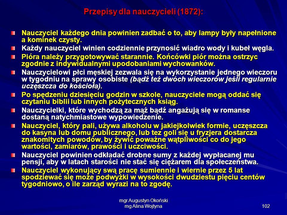 Przepisy dla nauczycieli (1872):
