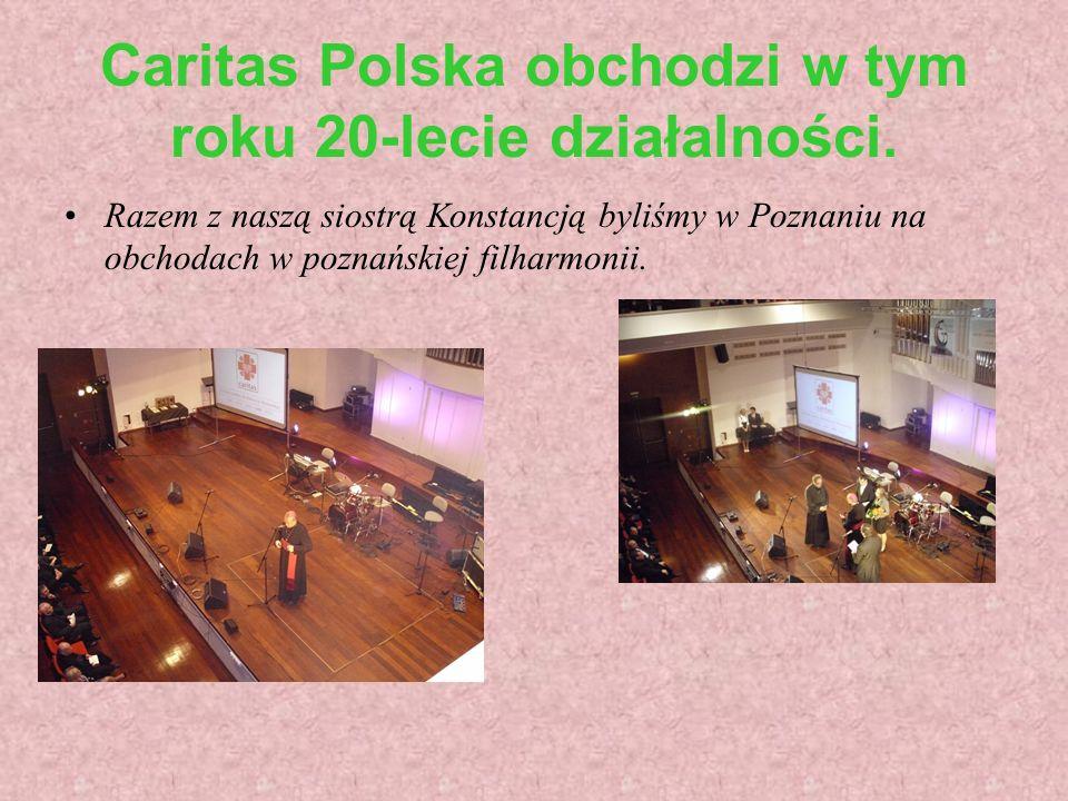 Caritas Polska obchodzi w tym roku 20-lecie działalności.