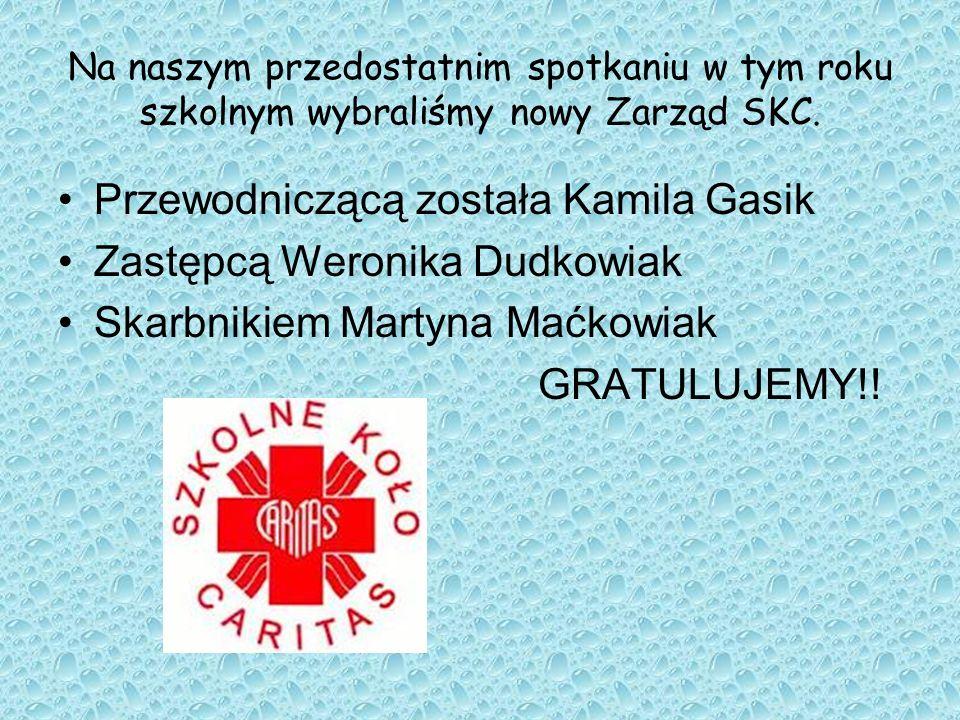Przewodniczącą została Kamila Gasik Zastępcą Weronika Dudkowiak
