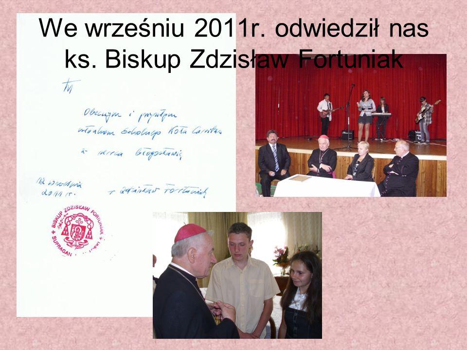 We wrześniu 2011r. odwiedził nas ks. Biskup Zdzisław Fortuniak