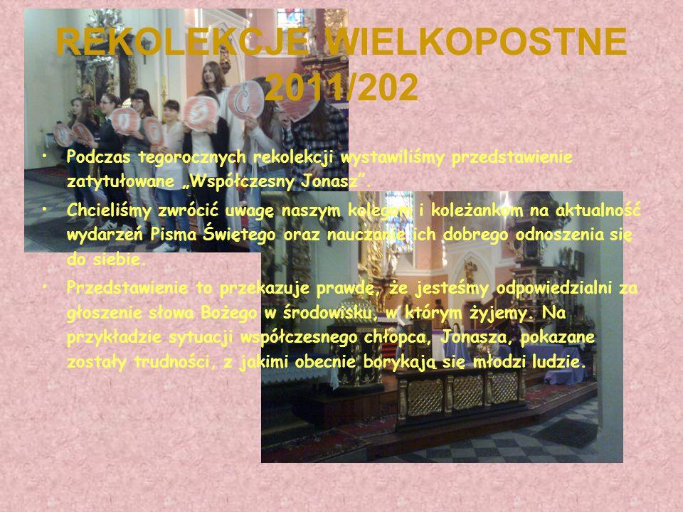 REKOLEKCJE WIELKOPOSTNE 2011/202