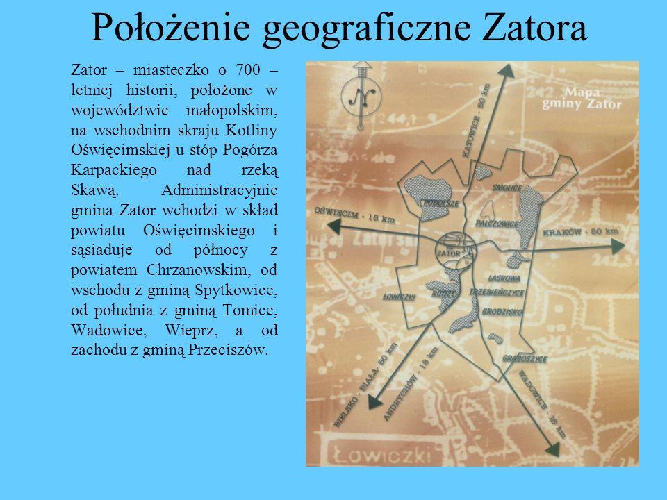 Położenie geograficzne Zatora