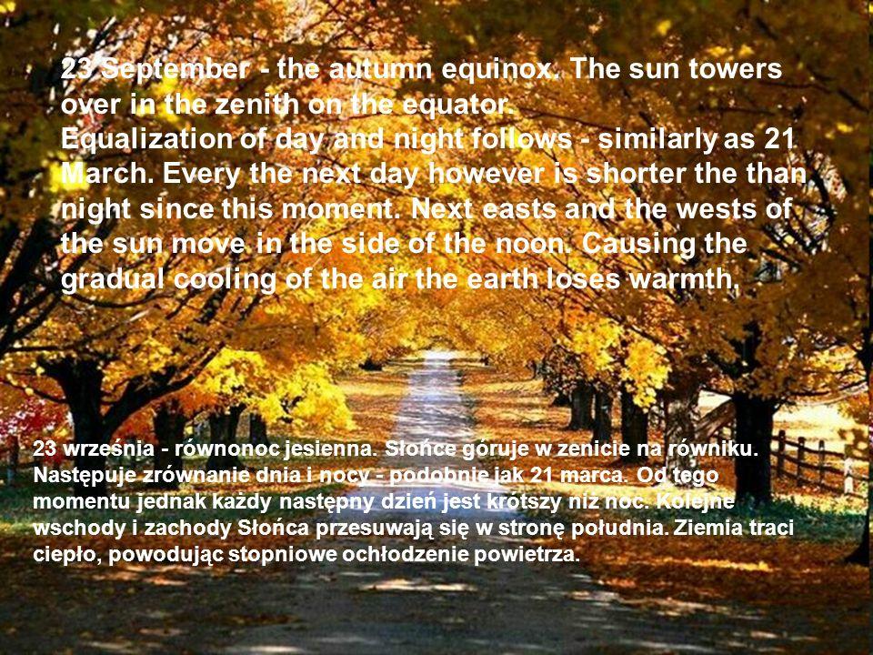 23 September - the autumn equinox