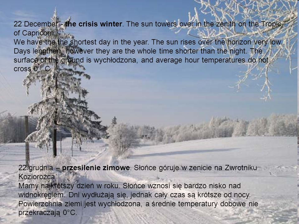 22 December - the crisis winter