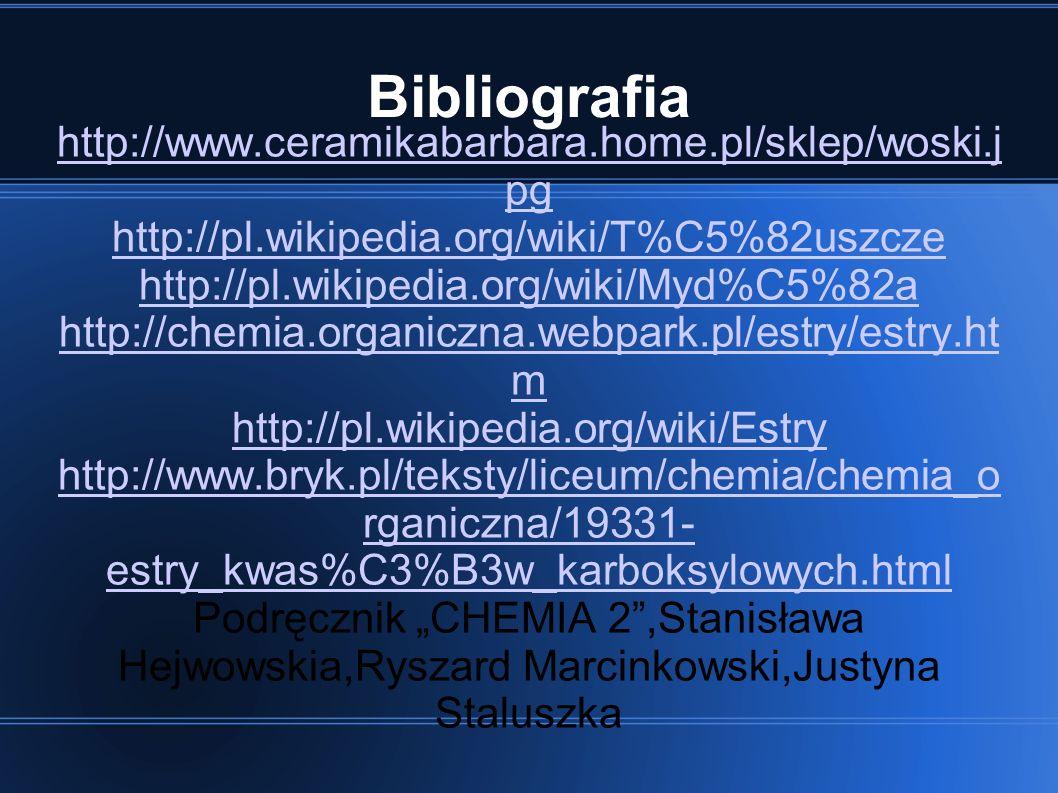 Bibliografia http://www.ceramikabarbara.home.pl/sklep/woski.jpg