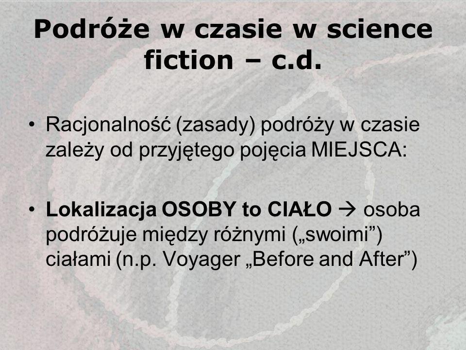 Podróże w czasie w science fiction – c.d.