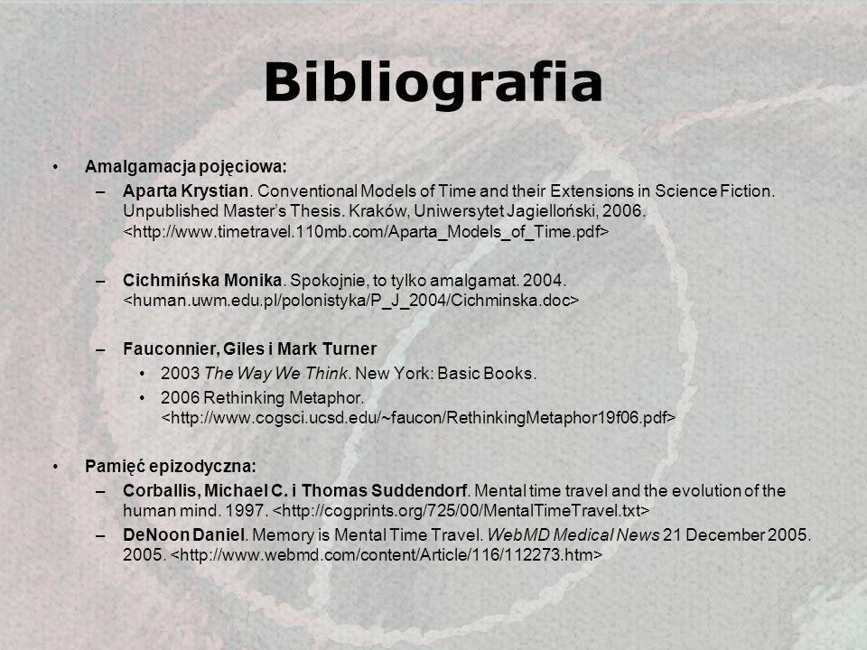 Bibliografia Amalgamacja pojęciowa: