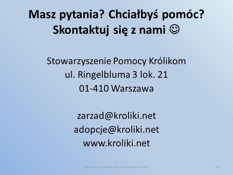 Masz pytania Chciałbyś pomóc Skontaktuj się z nami 