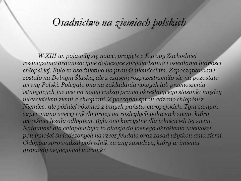 Osadnictwo na ziemiach polskich