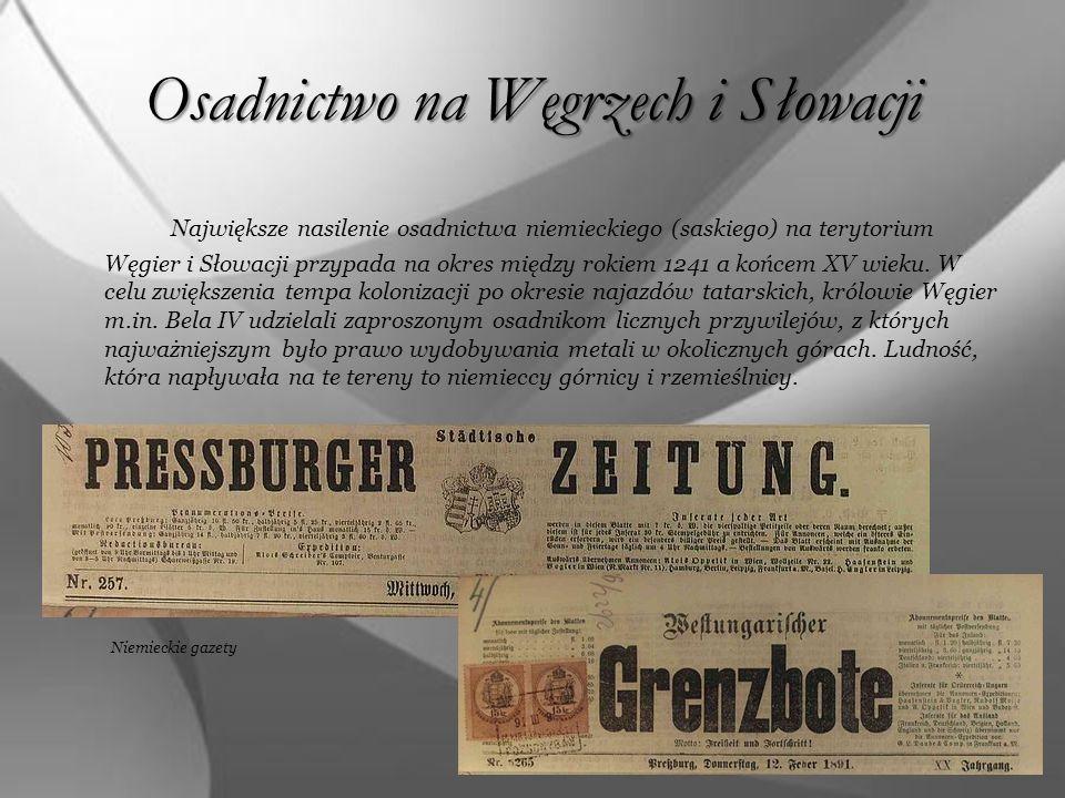 Osadnictwo na Węgrzech i Słowacji