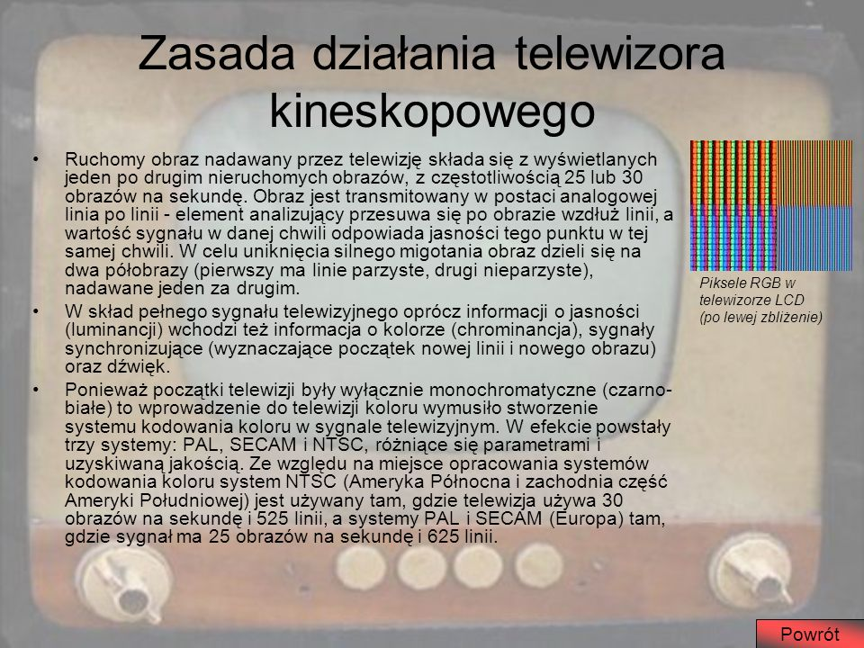 Zasada działania telewizora kineskopowego