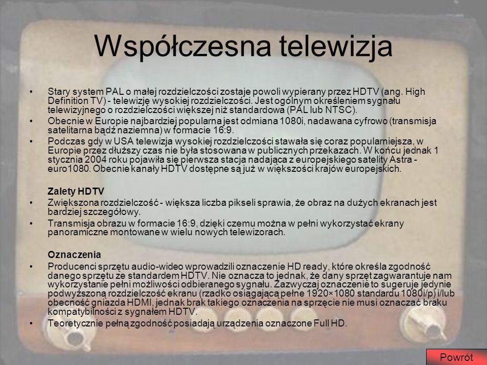 Współczesna telewizja