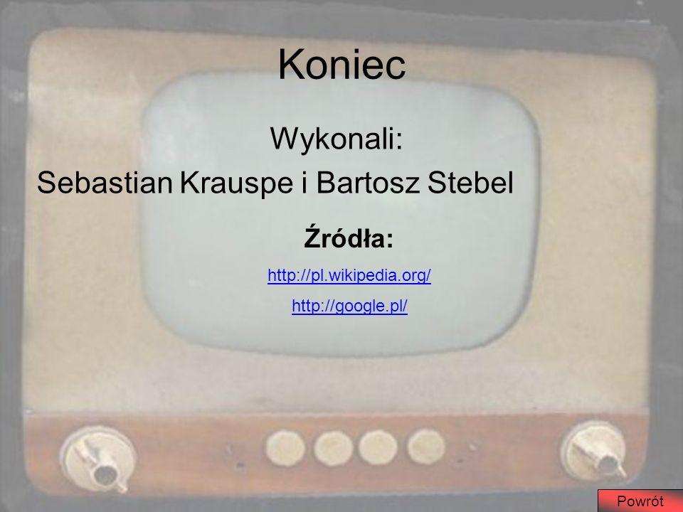 Koniec Wykonali: Sebastian Krauspe i Bartosz Stebel Źródła: