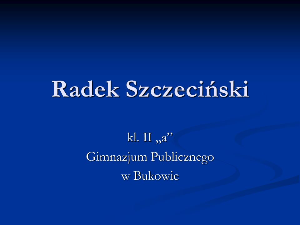 """kl. II """"a Gimnazjum Publicznego w Bukowie"""