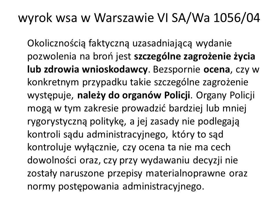 wyrok wsa w Warszawie VI SA/Wa 1056/04