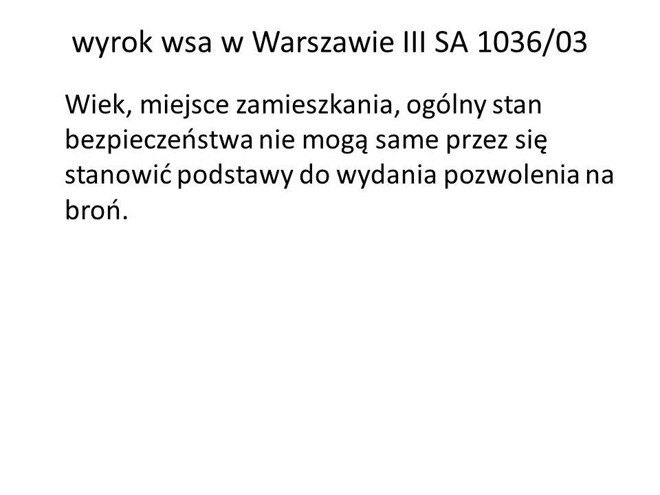 wyrok wsa w Warszawie III SA 1036/03