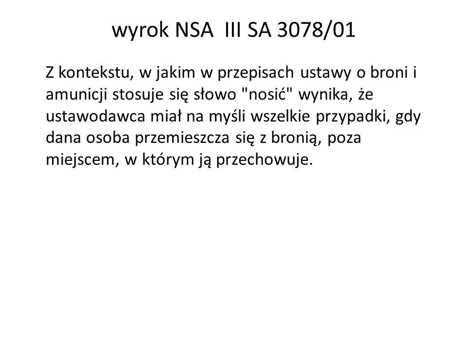 wyrok NSA III SA 3078/01