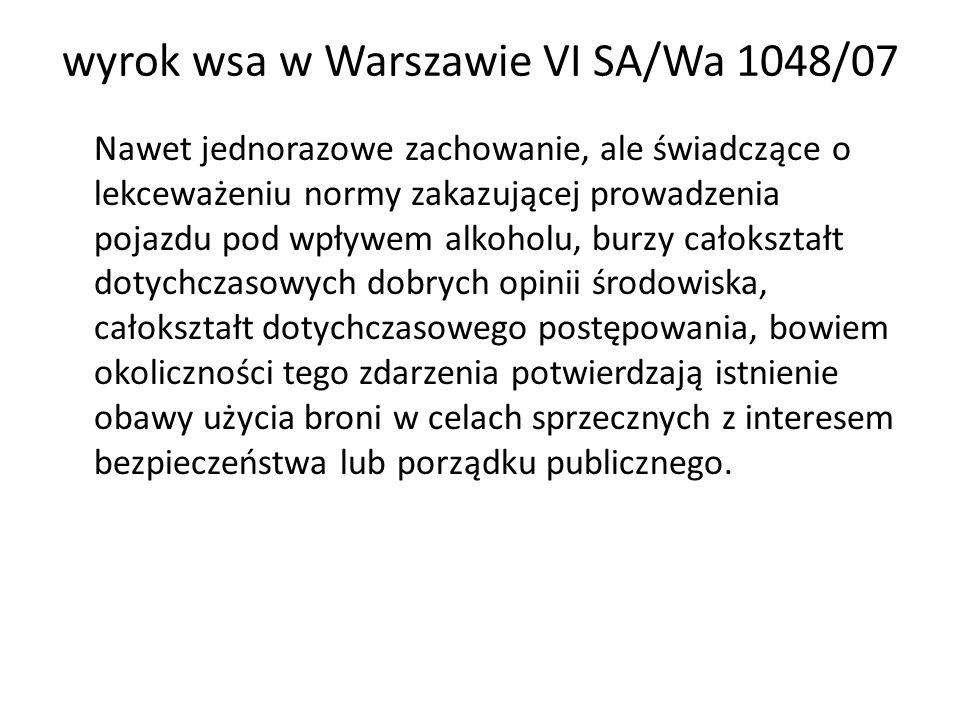 wyrok wsa w Warszawie VI SA/Wa 1048/07