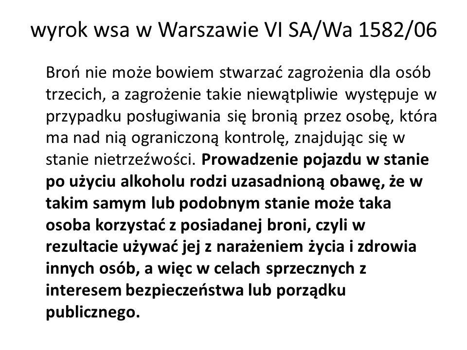 wyrok wsa w Warszawie VI SA/Wa 1582/06