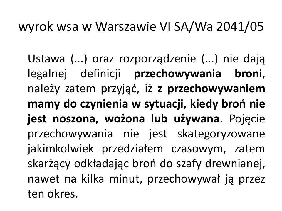 wyrok wsa w Warszawie VI SA/Wa 2041/05