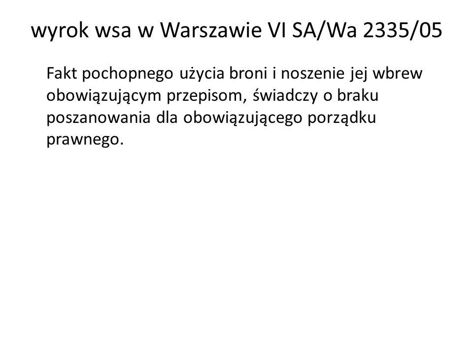 wyrok wsa w Warszawie VI SA/Wa 2335/05